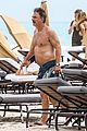chris noth goes shirtless on the beach during miami vacation 16