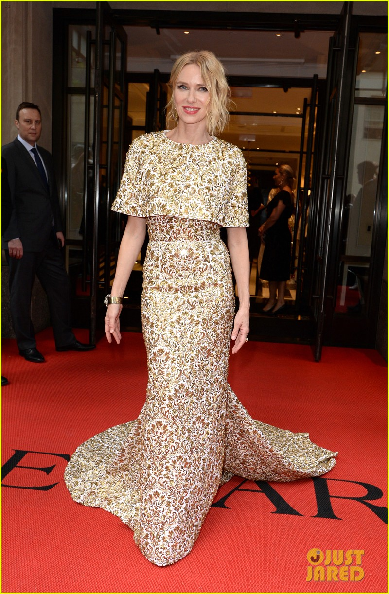 naomi watts looks regal in ornate gold dress at met gala 2018 04