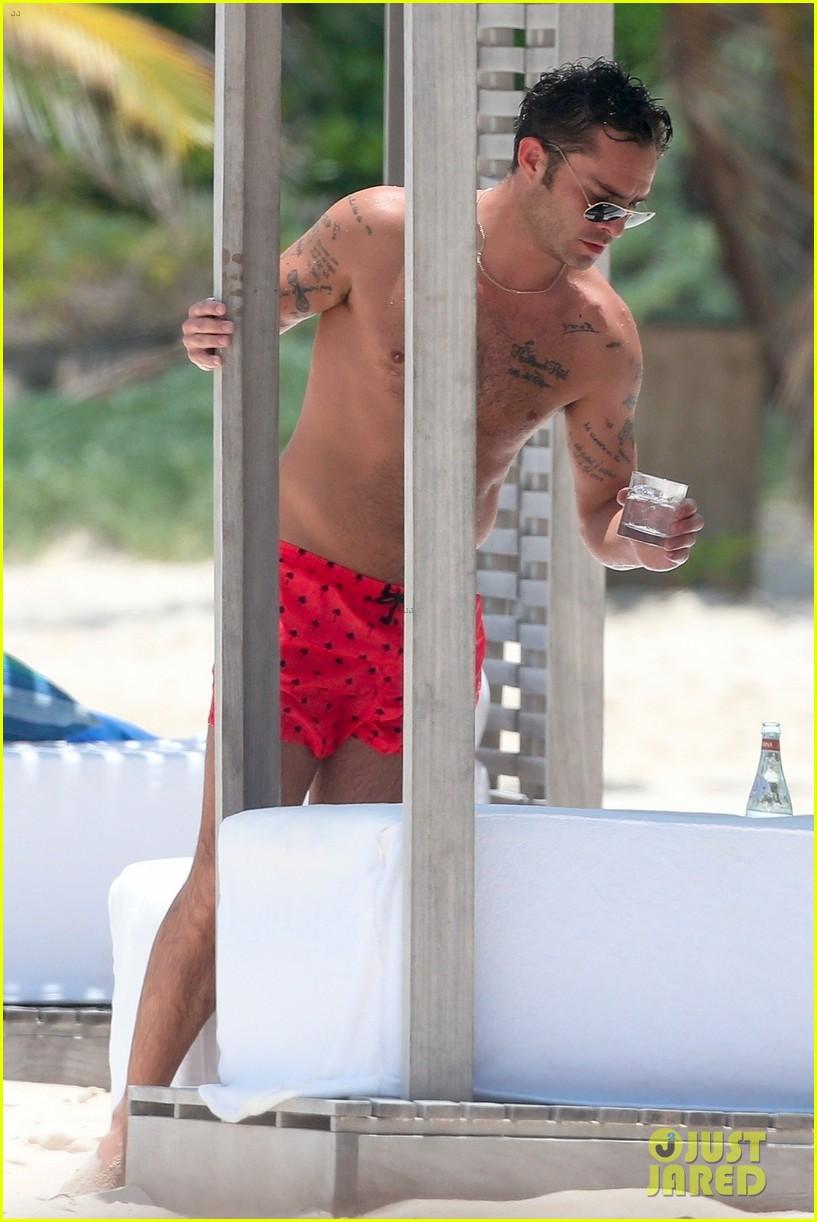 ed westwick shirtless beach photos 22