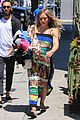 hilary duff dresses her baby bump in colorful dress 04