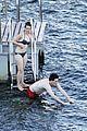 felicity jones charles guard hit the beach honeymoon 26