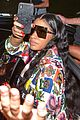 nicki minaj dons colorful outfit while arriving in brazil 02