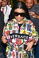 nicki minaj dons colorful outfit while arriving in brazil 04