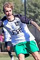 justin bieber goes shirtless playing soccer with friends 77