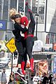 tom holland dons spider man far from home costume while filming with zendaya in nyc210