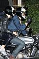 katy perry orlando bloom arrive on motorcycle for jennifer aniston birthday party 20