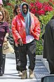 kanye west rocks tie dye while leaving the office 04
