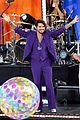 adam lambert pairs purple suit with silver heels for gmas summer concert series 08