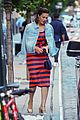 mandy moore matches with her bff in denim jackets 01