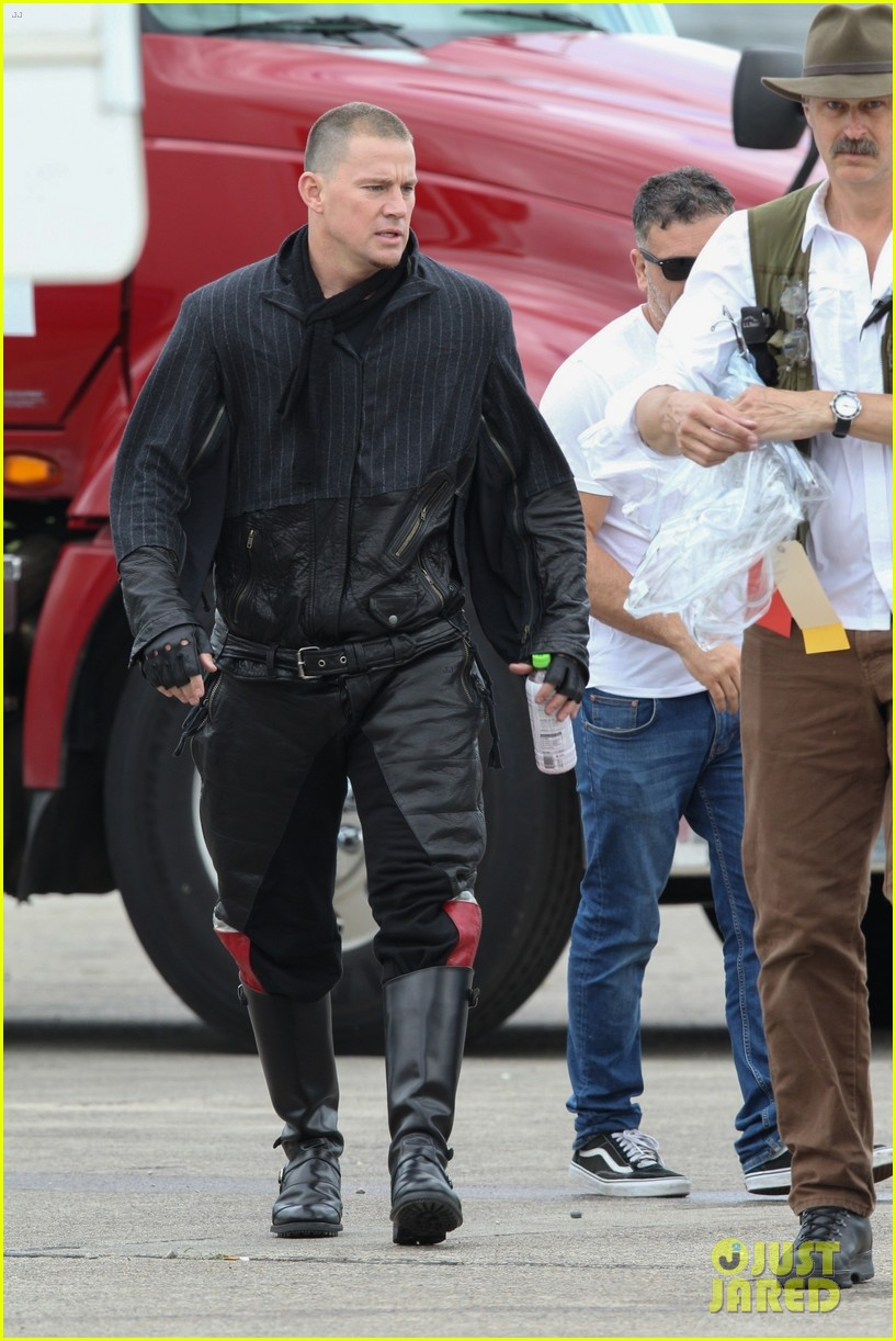 channing tatum gets into character while filming free guy 024310224