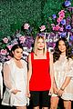 olivia munn sports sheer lacy mini dress at create cultivate event 01