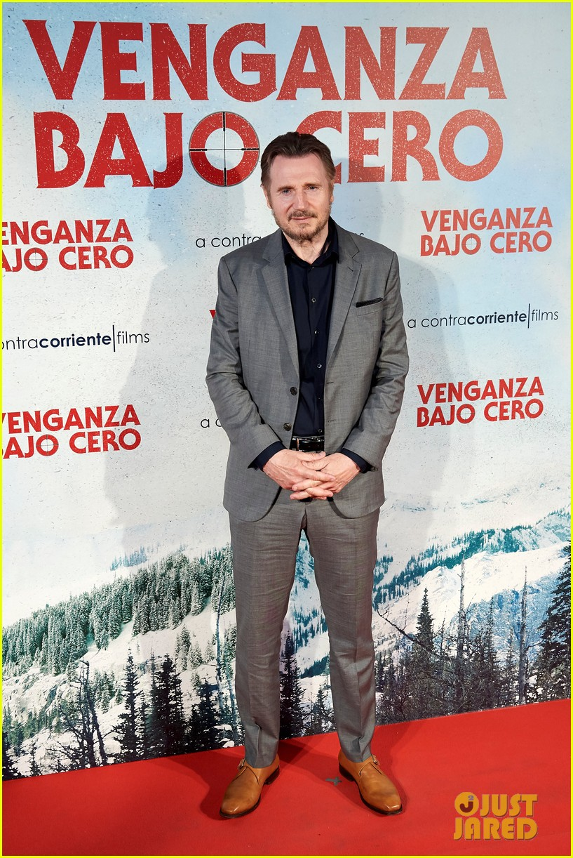 liam neeson brings cold pursuit to madrid 034322398