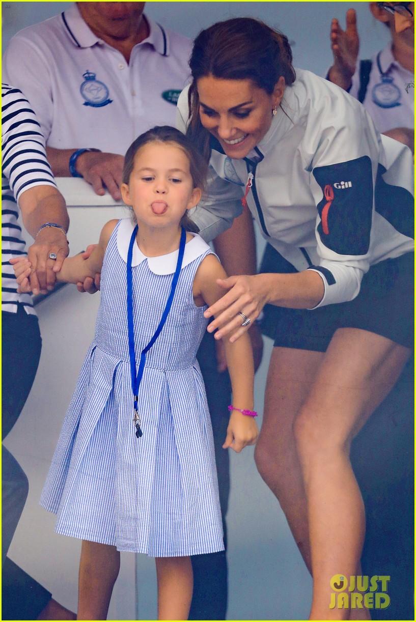princess charlotte sticks out tongue at crowd 034332525