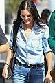 courteney cox rocks denim on denim while out with friends 02