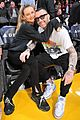 adam levine behati prinsloo show off some cute pda at lakers game 01