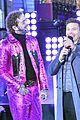 post malone hugs bts pink suit ball drop 16