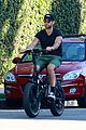 chace crawford puts muscles on display during a bike ride 01