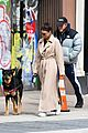 emily ratajkowski bundles up in long coat 03