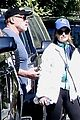 chris pratt katherine schwarzenegger walk with her family 03