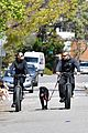 robin wright clement giraudet bike ride with dog 02