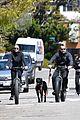 robin wright clement giraudet bike ride with dog 05