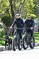 robin wright clement giraudet bike ride with dog 06
