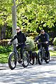 robin wright clement giraudet bike ride with dog 22