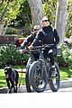 robin wright clement giraudet bike ride with dog 42