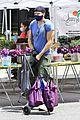 joel mchale buff biceps at farmers market 39