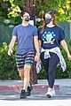darren criss wife mia hold hands coffee run 03