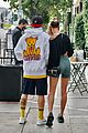 justin bieber hailey bieber cute pda out for breakfast 30
