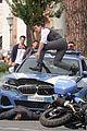tom cruise hops on car films car crash scene mi hayley atwell 03