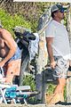 leonardo dicaprio at beach with emile hirsch 63