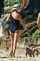 simon cowell orange shorts beach day barbados 04