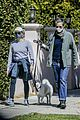jodie foster alexandra hedison walk with their dog 01
