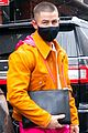 nick jonas colorful outfit out in nyc 02