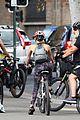 rita ora russell crowe britney theriot bike ride sydney 40