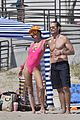 alessandra ambrosio richard lee touch tongues beach day 88