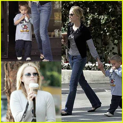 Reese Witherspoon Walks Deacon
