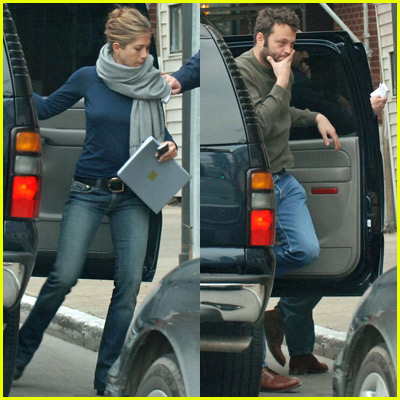 Jennifer Aniston And Vince Vaughn In Chicago