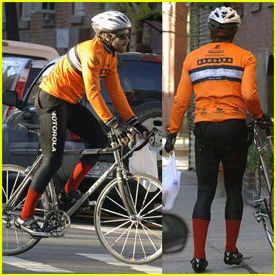 Jake Gyllenhaal Riding Bicycle