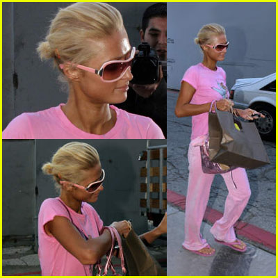 Paris Hilton: Tanning Salon Slip-up