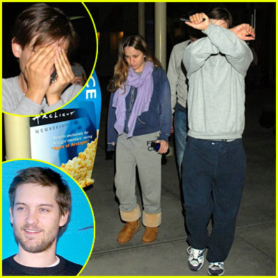 Tobey Maguire Hiding Face