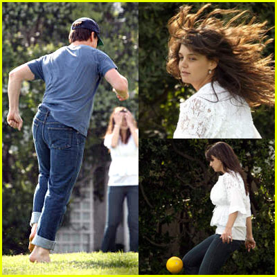 Tom & Katie Play Soccer