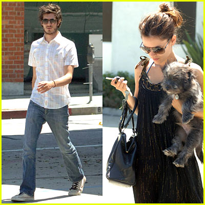 Rachel Bilson & Adam Brody Take Dog to the Vet