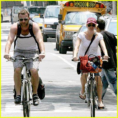 Naomi Watts & Liev Schreiber's Bike Ride