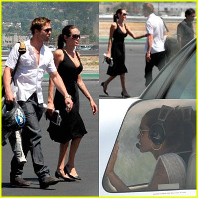 Brad & Angelina: Burbank Airport