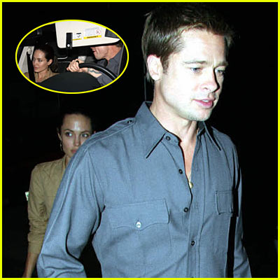 Brad & Angelina at Scott Caan Birthday Party
