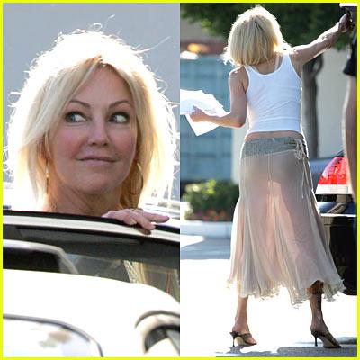 Heather Locklear: Sheer Skirt!!