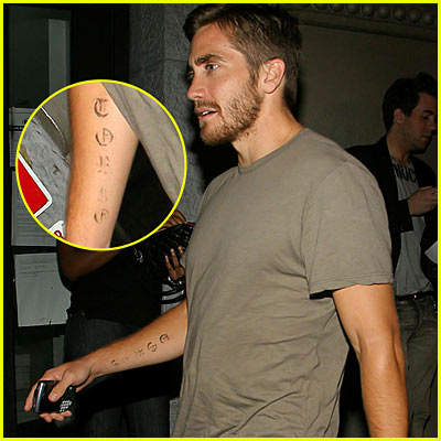 Jake Gyllenhaal Tattoo
